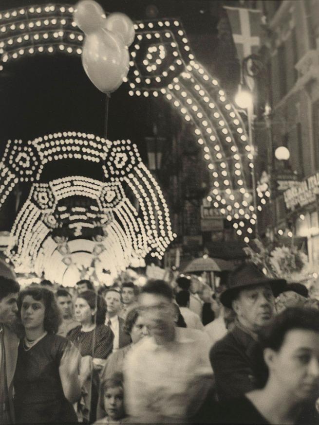 Sid Grossman(American, 1913-1955) 'San Gennaro Festival, New York City' 1948