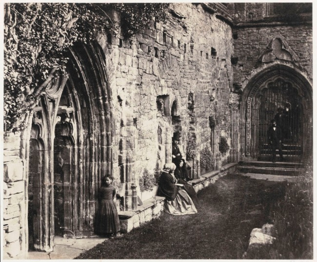 Roger Fenton (British, 1819-1869) 'The Cloisters, Tintern Abbey' 1854