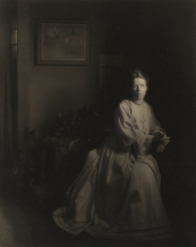 Clarence White (American, 1871-1925) 'Mrs. White - In the Studio' 1907