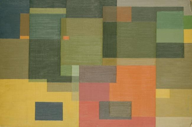 Ralph Balson (Australian, born England 1890-1964; worked in Australia 1913-64) 'Constructive painting' 1948