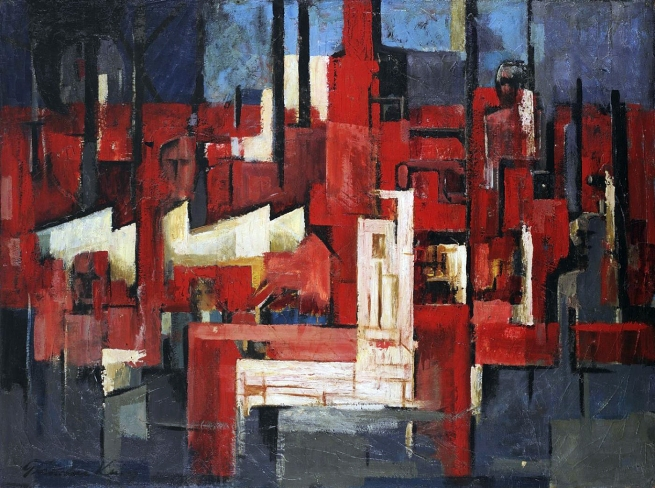 Grahame King (Australian 1915-2008) 'Industrial Landscape' 1960