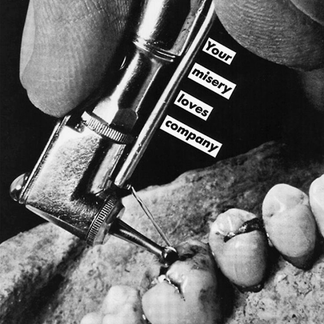 Barbara Kruger(American, b. 1945) 'Untitled (Your misery loves company)' 1985