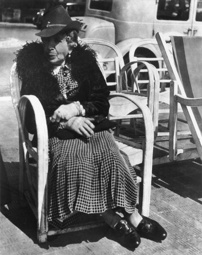 Lisette Model (American, born Austria 1901-1983) 'Riviera - elderly woman' c. 1934