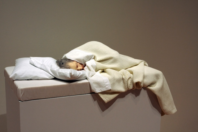 Ron Mueck (Australian b. 1958) 'Old Woman in bed' 2002