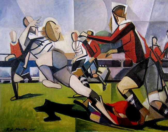 Roy de Maistre (Australian, 1894-1968) 'The football match' 1938