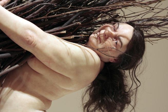 Ron Mueck(Australian b. 1958) 'Woman with Sticks' 2008