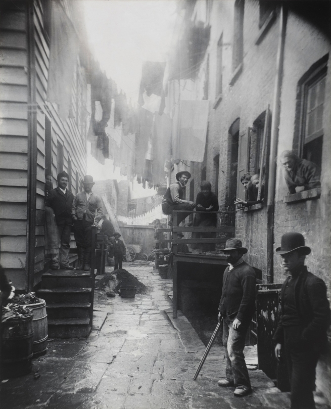 Jacob Riis (Danish-American, 1849-1914) 'Bandit's Roost at 59½ Mulberry Street' 1888