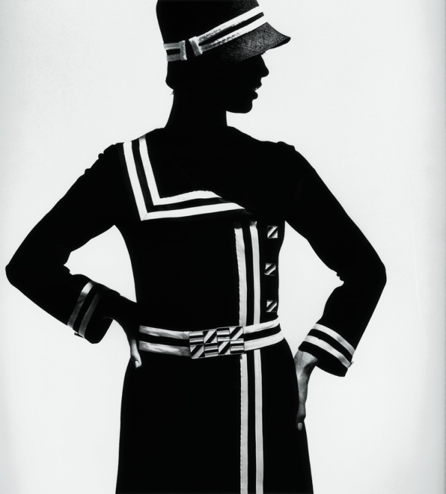 F.C. Gundlach (German, b. 1926) 'Op Art Silhouette. Jersey coat by Lend' Paris 1966