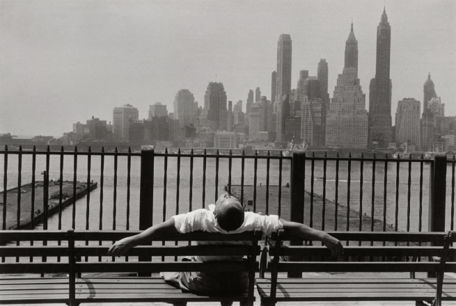 Louis Stettner (American, born 1922) 'Manhattan from the Promenade, Brooklyn, New York' 1954