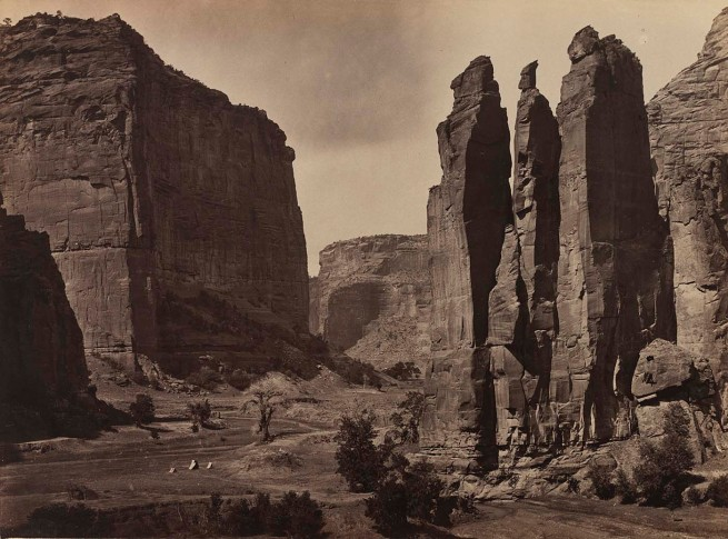 Timothy H. O'Sullivan (American, 1840-1882) 'Cañon de Chelle, Walls of the Grand Canon about 1200 feet in height' 1873