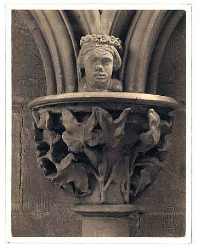 Frederick H. Evans (British, 1853-1943) 'Southwell Cathedral, Chapter House Capital' 1898