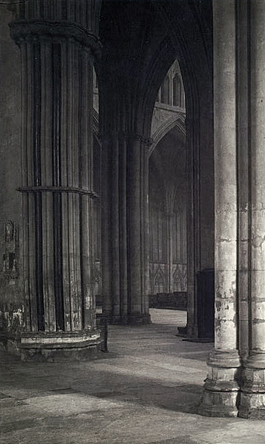 Frederick H. Evans (British, 1853-1943) 'View across the nave to the transept at York Minster' 1901