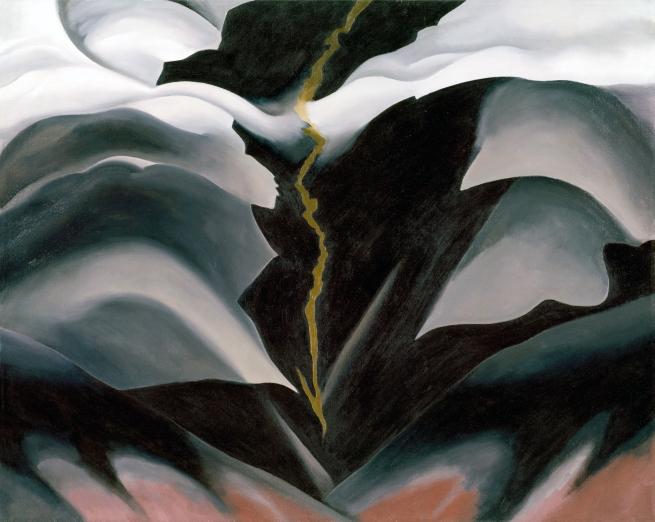 Georgia O'Keeffe(American, 1887-1986) 'Black Place II' 1944