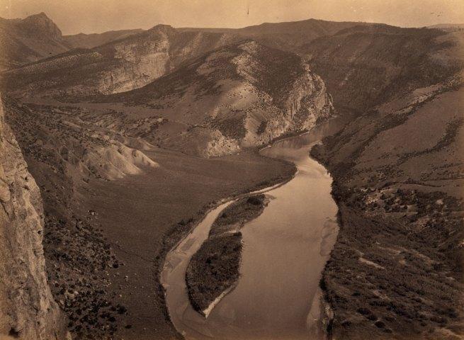 Timothy H. O'Sullivan(American, 1840-1882) 'Horse Shoe Cañon, Green River, Wyoming' 1872