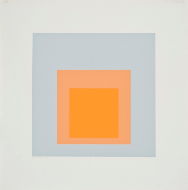 Josef Albers (German, 1888-1976) 'Homage to the Square - Arctic Bloom' 1965