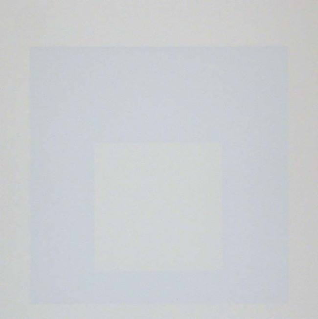 Josef Albers (German, 1888-1976) 'Homage to the Square - Nacre' 1965