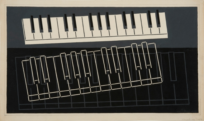 Josef Albers (German, 1888-1976) 'Piano Keys' 1932