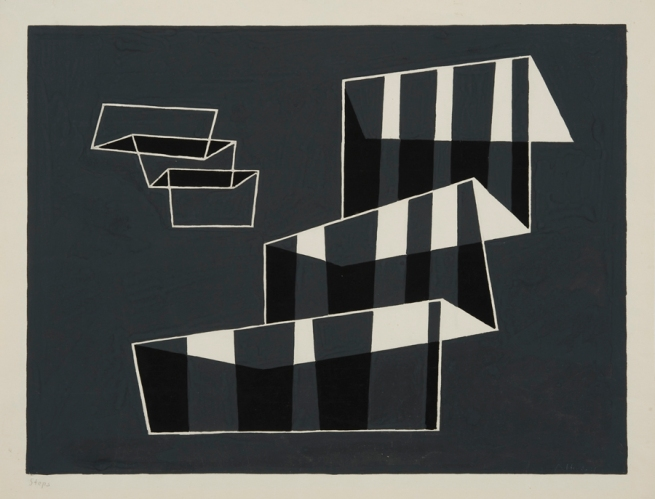 Josef Albers (German, 1888-1976) 'Steps' 1932