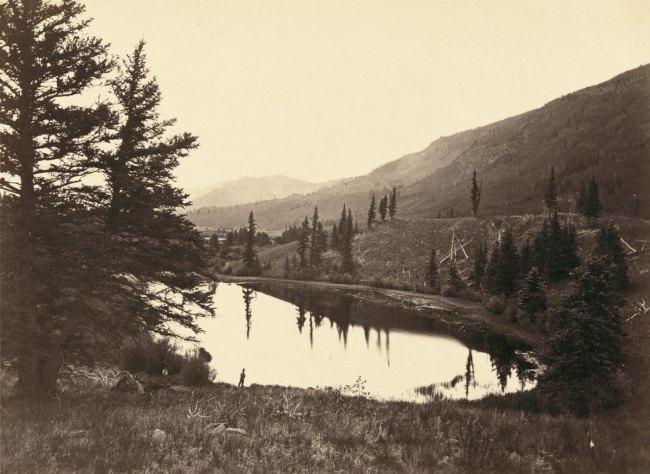 Timothy H. O'Sullivan(American, 1840-1882) 'Lake in Conejos Cañon, Colorado' 1874