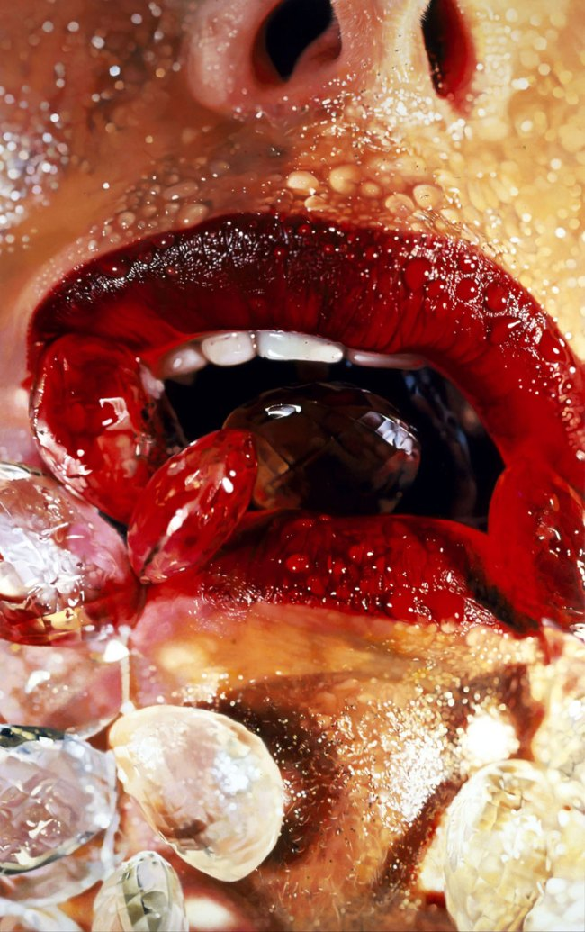 Marilyn Minter (American, b. 1948) 'Crystal Swallow' 2006