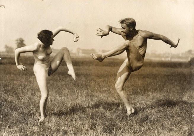 Gerhard Riebicke(German, 1878-1957) 'Couple Performing German Dance' c. 1930