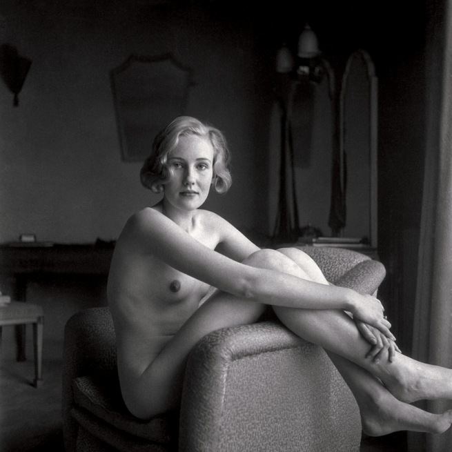 T.W. Salomon (attributed) 'Female Nude in Armchair' c. 1935