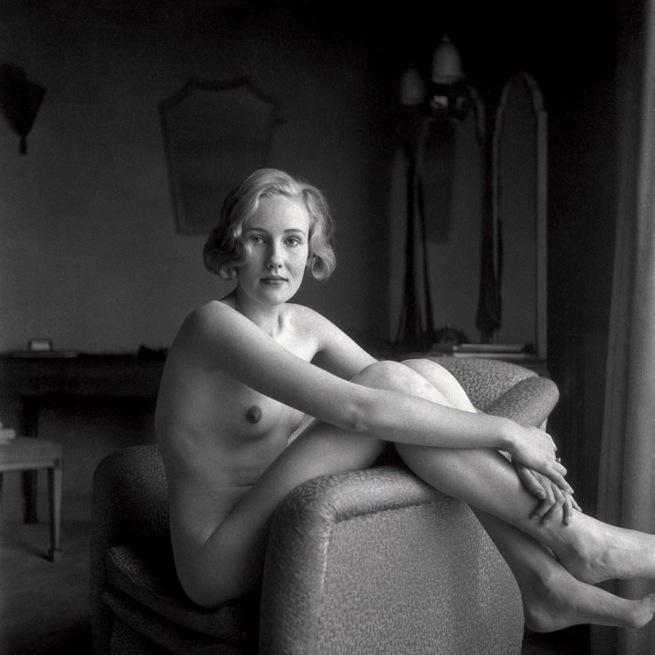 T.W. Salomon (attributed) 'Female Nude in Armchair' c. 1935