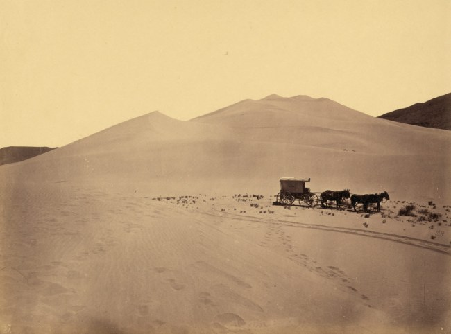 Timothy H. O'Sullivan(American, 1840-1882) 'Sand Dunes, Carson Desert, Nevada' 1867