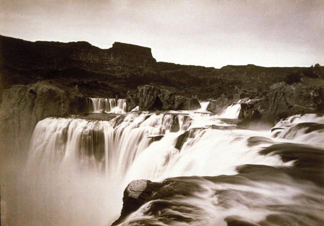 Timothy H. O'Sullivan(American, 1840-1882) 'Shoshone Falls, Snake River, Idaho, View Across Top of Falls' 1874