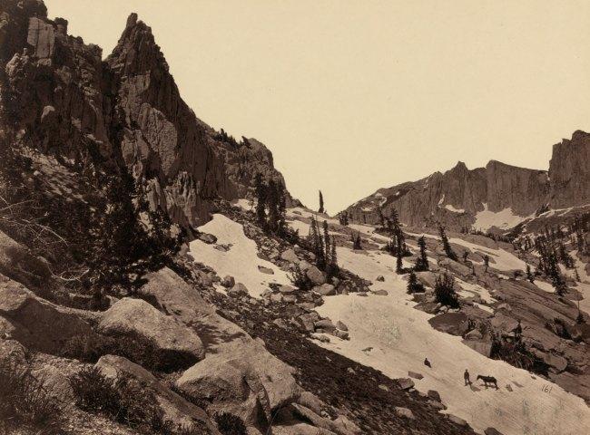 Timothy H. O'Sullivan(American, 1840-1882) 'Summit of Wahsatch Range, Utah (Lone Peak)' 1869