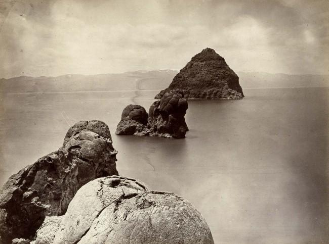 Timothy H. O'Sullivan(American, 1840-1882) 'The Pyramid & Domes, Pyramid Lake, Nevada' 1867