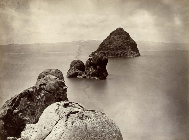 Timothy H. O'Sullivan (American, 1840-1882) 'The Pyramid & Domes, Pyramid Lake, Nevada' 1867