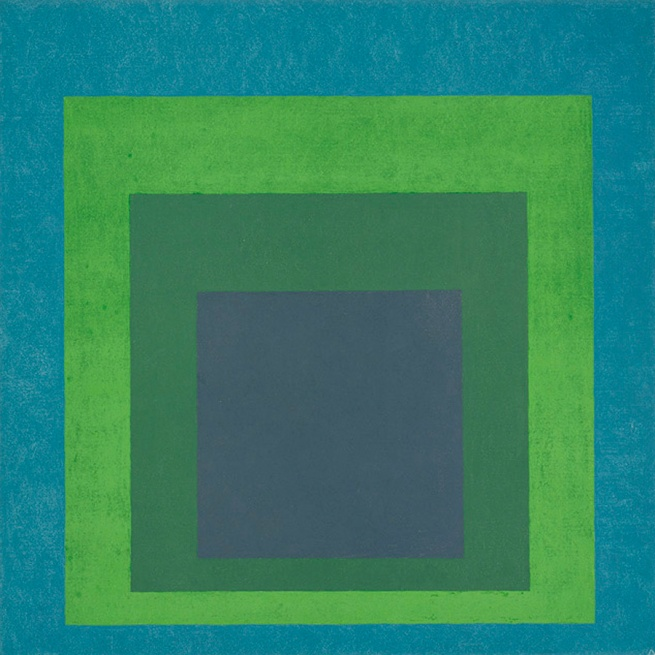 Josef Albers (German, 1888-1976) 'Homage to the Square - Soft Spoken' 1969