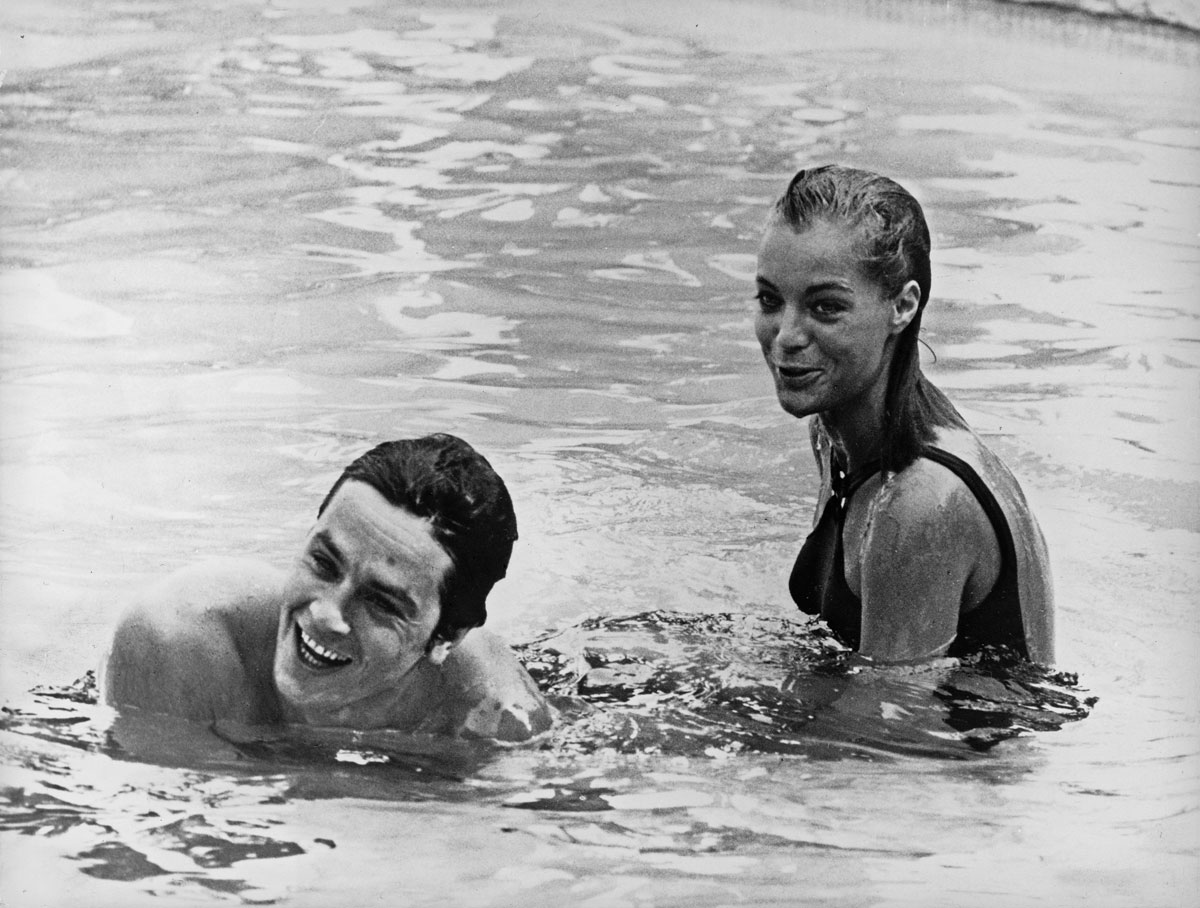 Romy schneider hamburg 1961 art blart for Alain delon la piscine