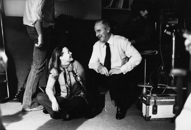 Romy Schneider and Claude Sautet during the shooting of 'UNE HISTOIRE SIMPLE' / 'A SIMPLE STORY'