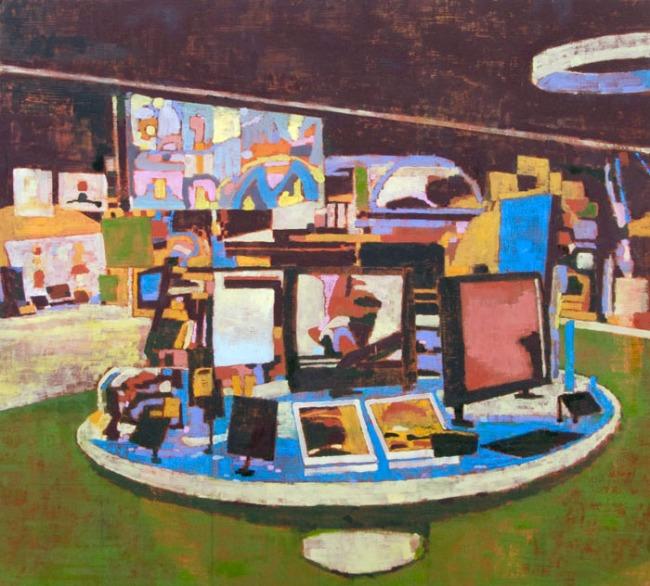 Steven Rendall. 'Flat Screens (Green)' 2010
