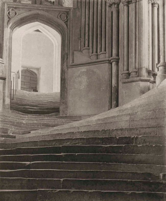 Frederick H. Evans (British, 1853-1943) 'A Sea of Steps - Stairs to Chapter House - Wells Cathedral' 1903
