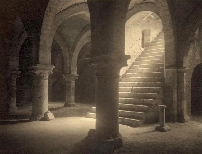 Frederick H. Evans (British, 1853-1943) 'Ancient crypt cellars in Provins' 1910