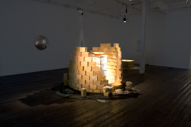 Installation view of the exhibition 'A Shrine for Orpheus' by Pip Stokes at fortyfivedownstairs, Melbourne