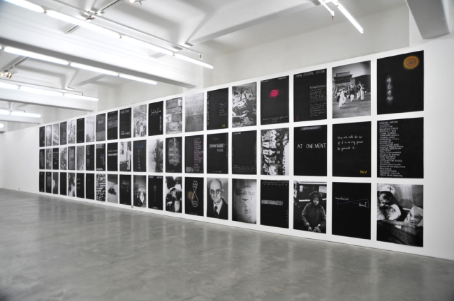 John Young(Australian, born Hong Kong 1956) 'Safety Zone' (installation view) 2010