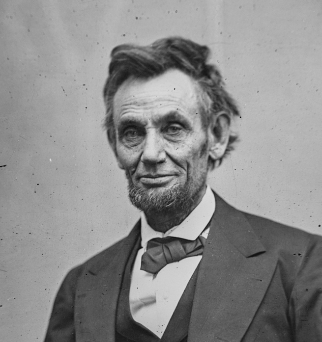 Alexander Gardner (Scottish 1821-1882; emigrated America 1856) 'Abraham Lincoln' February 5, 1865 Washington, DC (detail)