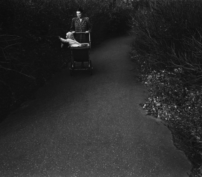 Harry Callahan (American, 1912-1999) 'Eleanor and Barbara (baby carriage)' 1952