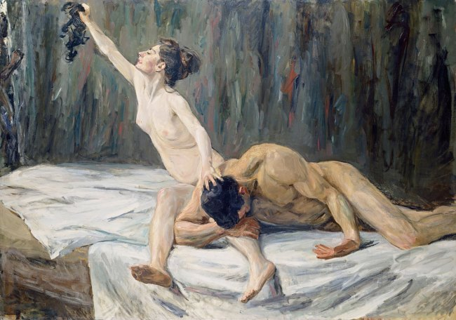 Max Liebermann (German 1847-1935, lived in France 1874-78) 'Samson and Delilah' (Simson und Delila) 1901