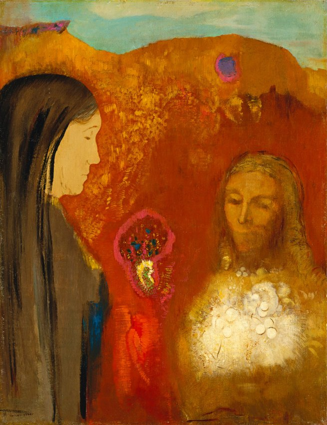 Odilon Redon (French 1840-1916) 'Christ and the Samaritan Woman' (Le Christ et la Samaritaine) c. 1895