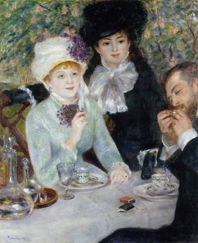 Pierre Auguste Renoir (French 1841-1919) 'After the luncheon' (La fin du déjeuner) 1879