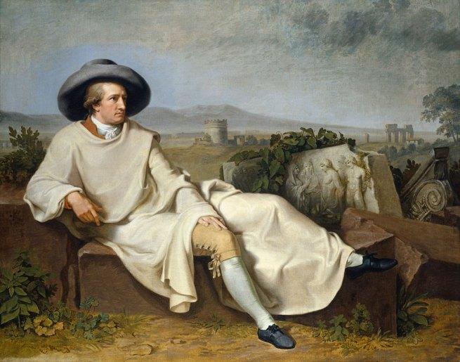Johann Heinrich Wilhelm Tischbein (German, 1751-1829) 'Goethe in the Roman countryside'(Goethe in der römischen Campagna) 1787