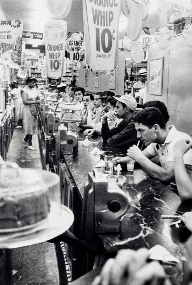 Robert Frank (Swiss-American, 1924-2019) 'Drugstore, Detroit' 1955