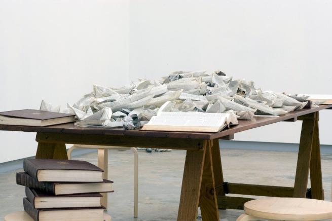 Simryn Gill(Singapore, b. 1959) 'Paper boats' 2008