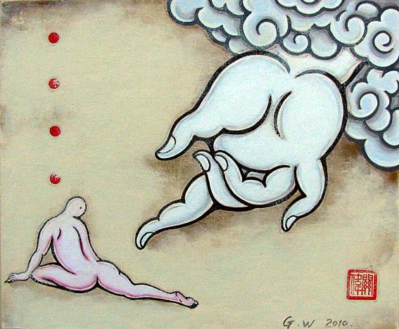 Guan Wei(China, b. 1957) 'Buddha's hand' 2010