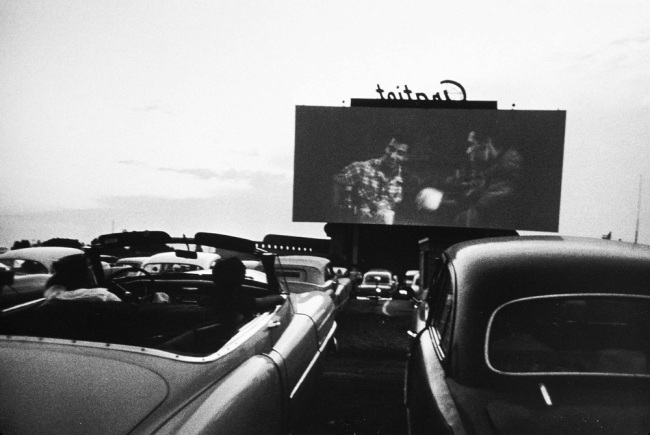 Robert Frank (Swiss-American, 1924-2019) 'Drive-In Movie, Detroit' 1955